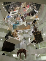 Maurizio Cattelan: All, installation view at The Solomon R. Guggenheim Museum, NY, Nov. 4, 2011 - Jan. 22, 2012. Image courtesy of Whitney Dail.