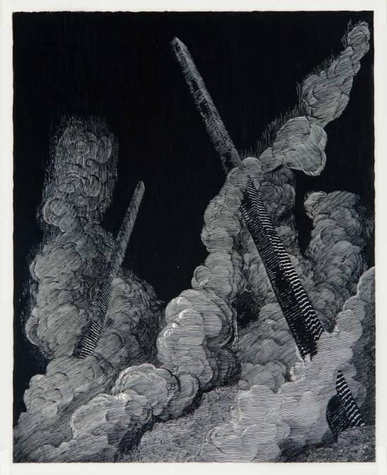 Daniel Arsham, Smoke (black), 2007. Courtesy Galerie Perrotin, Hong Kong & Paris