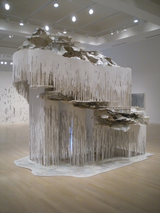 DIANA AL-HADID, Weatherspoon Art Museum, Greensboro, NC. Installation view. Image courtesy of Melissa Messina