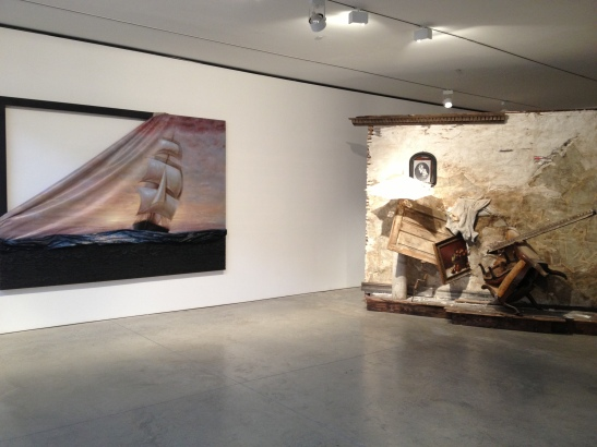 Titus Kaphar, The Vesper Project, 2013, installation view, Friedman Benda, NY
