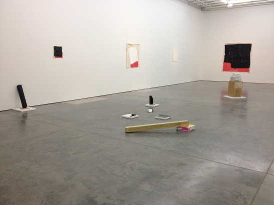 "Justin Beacler, installation view of ""Primary Ptructures,"" Dolphin, Kansas City, MO. Image courtesy of Erin Dziedzic"