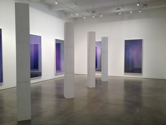 Sara VanDerBeek, installation view at Metro Pictures, NY. Image courtesy of Erin Dziedzic