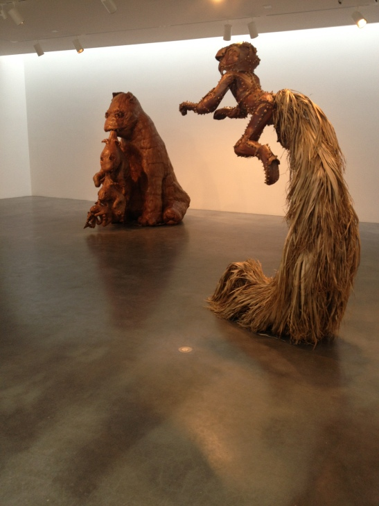 Tim Hawkinson, installation view at PACE, NY. Image courtesy of Erin Dziedzic