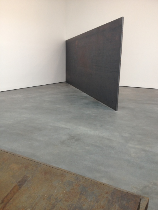 Richard Serra: Early Works, installation view at David Zwirner, NY. Image courtesy of Erin Dziedzic