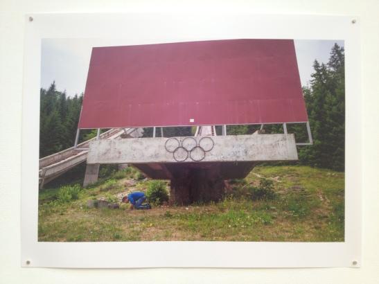 Credit: Jon Pack & Gary Hustwit: The Olympic City, 2013, Atlanta Contemporary Art Center, Atlanta, GA, installation view. Image courtesy of Shantay Robinson