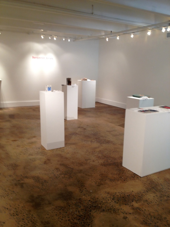 "Benjamin Jones, installation view of ""4 X4,"" Barbara Archer Gallery, Atlanta, GA, Image courtesy of Shantay Robinson"