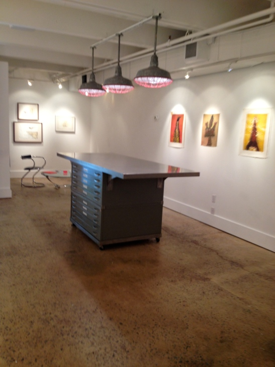 "Joseph Kurhajec, installation view of ""4 X4,"" Barbara Archer Gallery, Atlanta, GA. Image courtesy of Shantay Robinson"