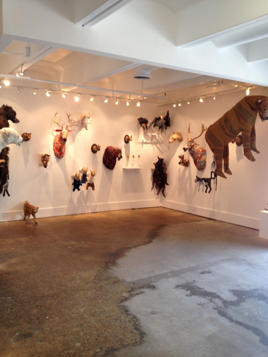 "Linda Hall, installation view of ""4 x 4,"" Barbara Archer Gallery, Atlanta, GA. Image courtesy of Shantay Robinson"