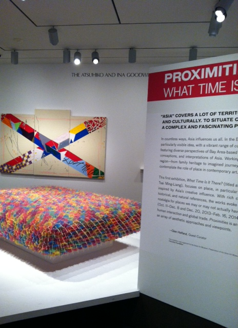 Proximities: What Time Is It There,? gallery entrance Asian Art Museum. Image by Monica Shinn