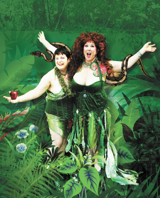 Annie Sprinkle and Beth Stephen, Annie and Beth with Snake