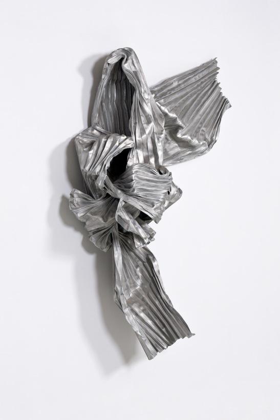 Lynda Benglis, Megisti II, 1984, bronze mesh and aluminum, 77 x 53 x 18 inches. Image courtesy of Locks Gallery, Philadelphia, PA.