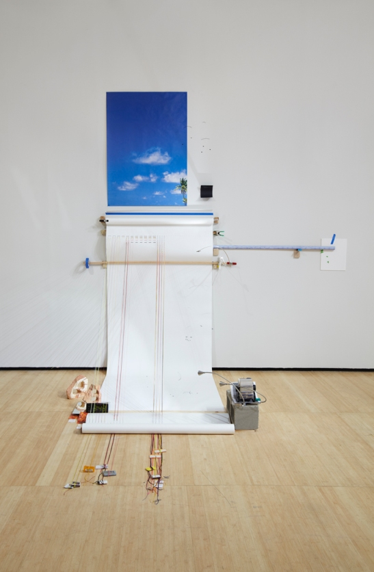 Sarah Sze, Random Walk Drawing (Air), 2011 Mixed media, Courtesy of the artist and Tanya Bonakdar Gallery, New York. Photo courtesy of Tom Powel.