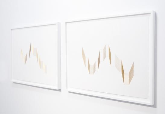 Abdolreza Aminlari, Walls and Landscapes, Installation view, Jackie Klempay Gallery, Brooklyn, NY, 2013.