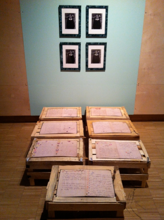 Gülsün Karamustafa, A PROMISED EXHIBITION installation view, 2013–2014, SALT Beyoğlu and SALT Galata, İstanbul Türkiye. Image courtesy of Greg Eltringham.