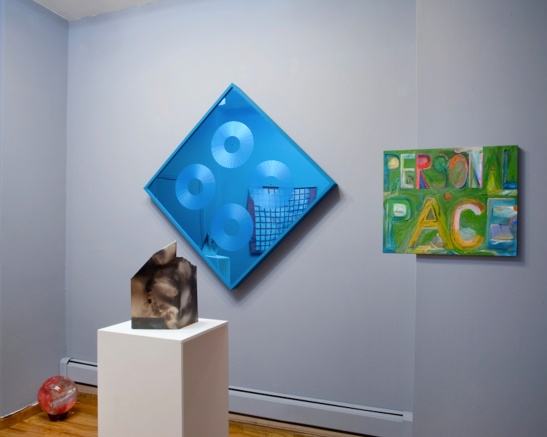 AS A SHADOW SMILES: FRANK HAINES, CHRISTOPHER GARRETT, REUBEN LORCH-MILLER, ROBBIE MCDONALD,Installation view, Jackie Klempay Gallery, Brooklyn, NY, 2013.