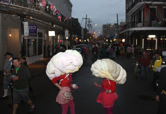 Megan Mantia and Leone Reeves, Mardi Gras, New Orleans, 2013
