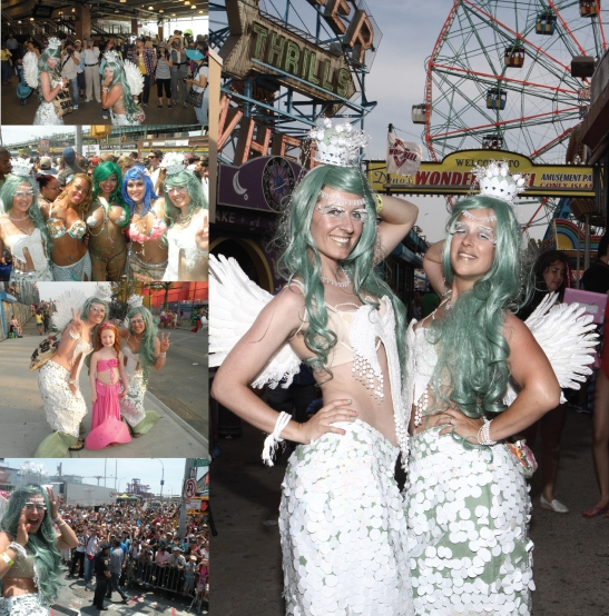 Megan Mantia and Leone Reeves, The Mermaid Parade, Coney Island, New York, 2013