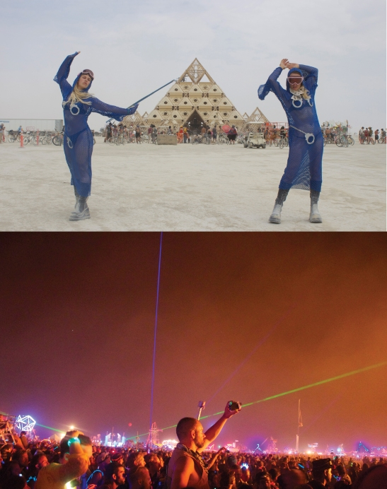 Megan Mantia and Leone Reeves, Burning Man, Black Rock Desert, Nevada, 2013